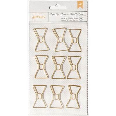 Bow Jumbo Gold Paper Clips by American Crafts