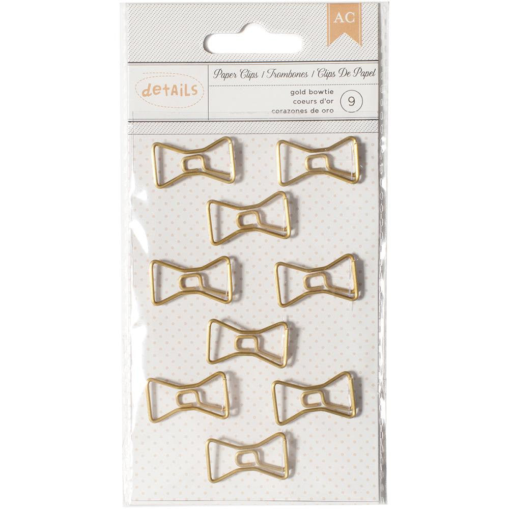 Bow Gold Paper Clips by American Crafts