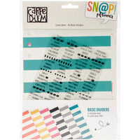 Carpe Diem A5 Striped Planner Dividers & Divider Label Stickers