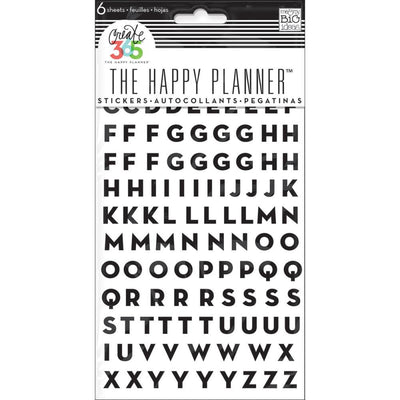 MAMBI Happy Planner Alpha, Number & Icon Stickers,  6 sheets