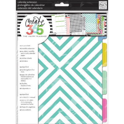 MAMBI Classic Happy Planner 6 month extension pack planner inserts