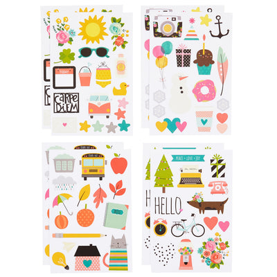 Carpe Diem Illustrated Life Planner Stickers, 132 Stickers, 8 sheets