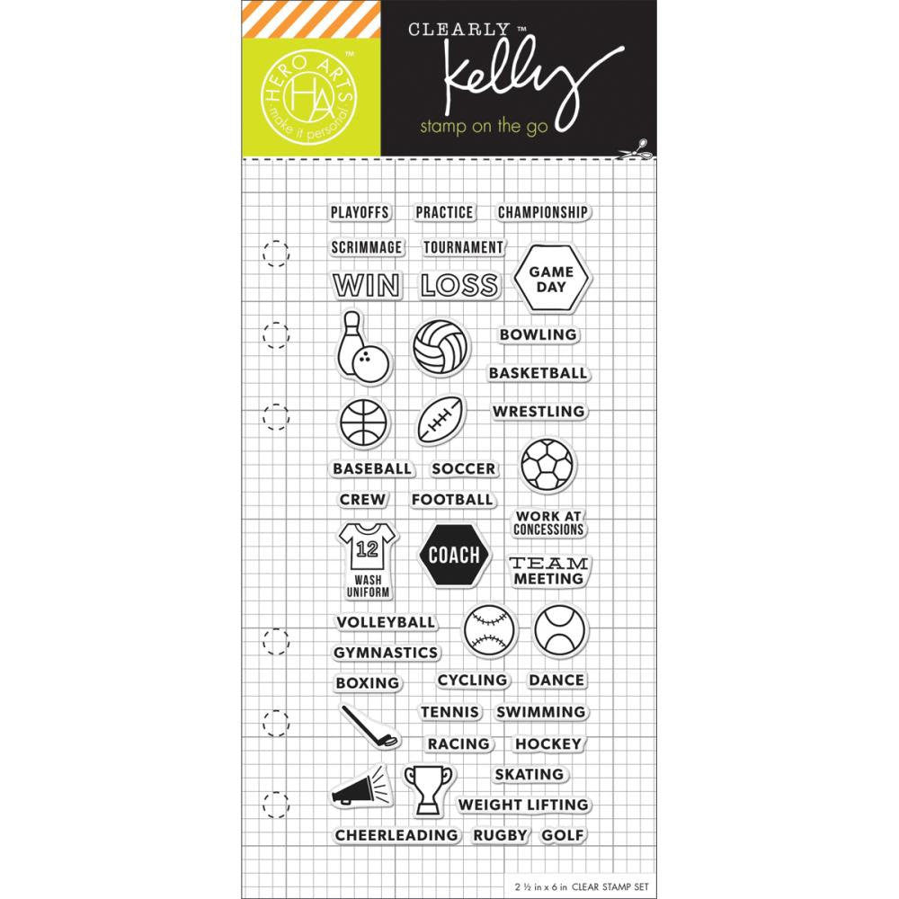 Sports Kelly Purkey Clear Planner Stamps
