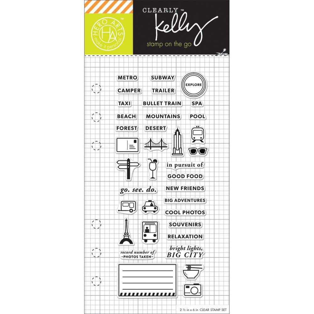 Kelly Purkey Adventure Travel & Vacation Clear Planner Stamps