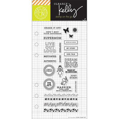 Girl Talk Clear Planner Stamps by Kelly Purkey