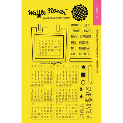 Waffle Flower CALENDAR Clear Planner Stamps