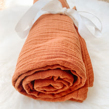 Terracotta Muslin Swaddle