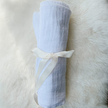 White Muslin Swaddle