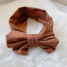 Rust Soft Stretch Baby Bow