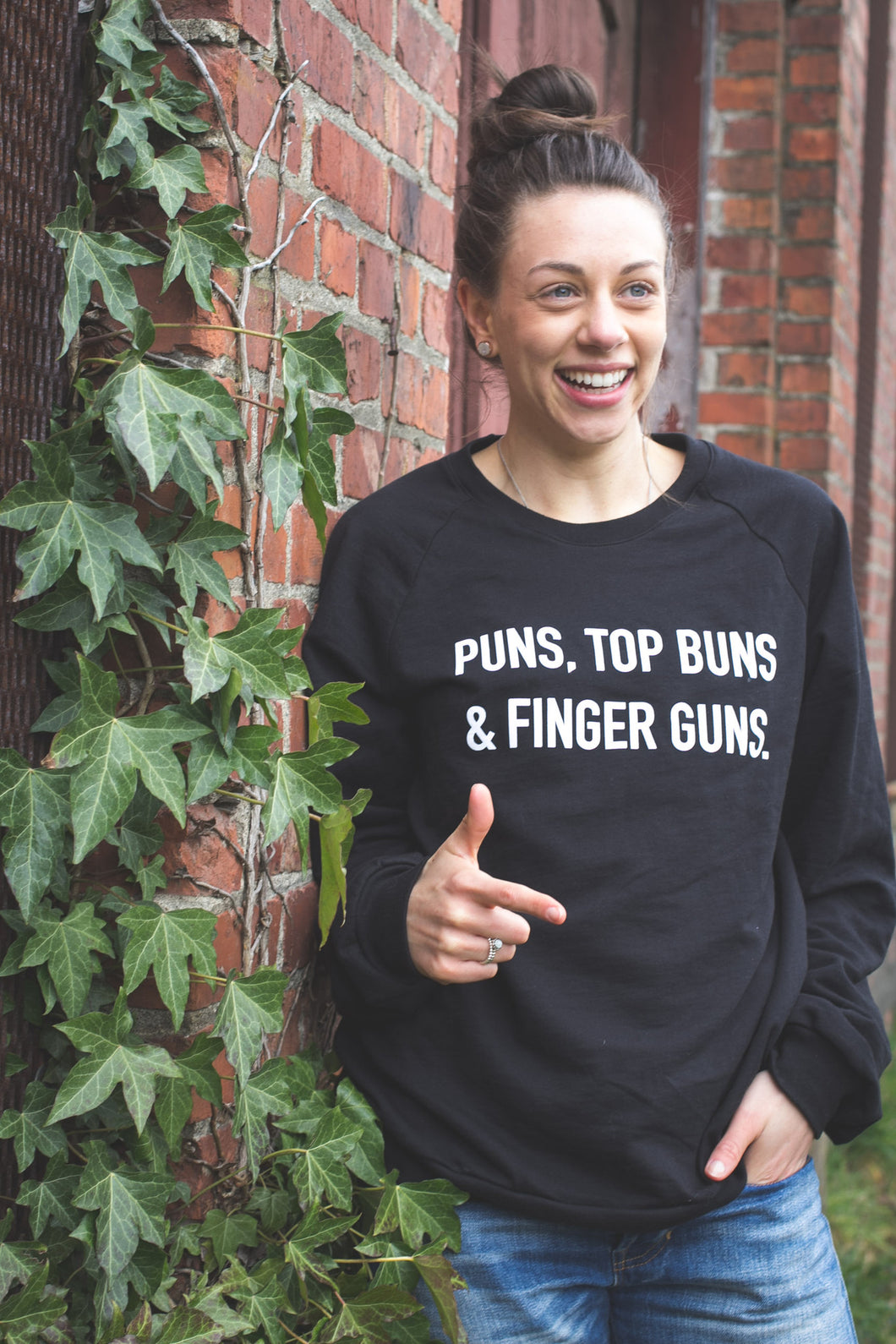 Puns, Top Buns & Finger Guns.