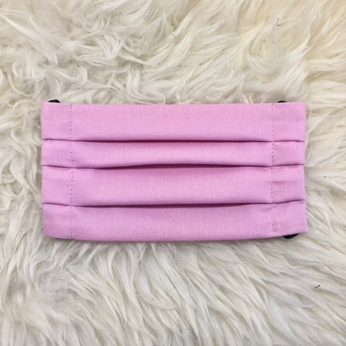 New Light Pink Pleated Face Mask