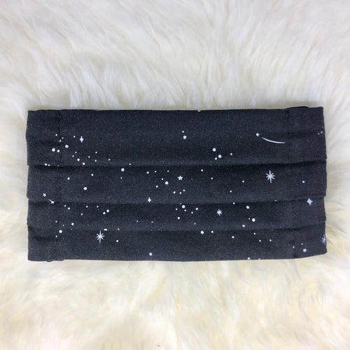 Shooting Stars Pleated Face Mask