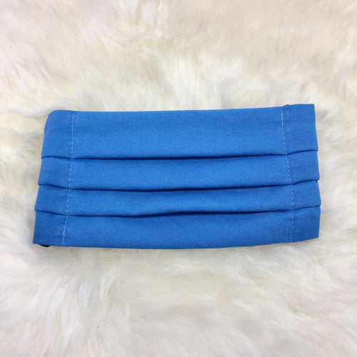 Beach Blue Pleated Face Mask