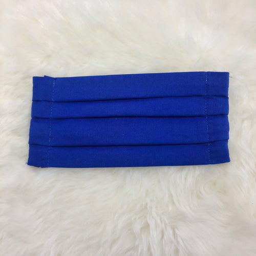 Royal Blue Pleated Face Mask