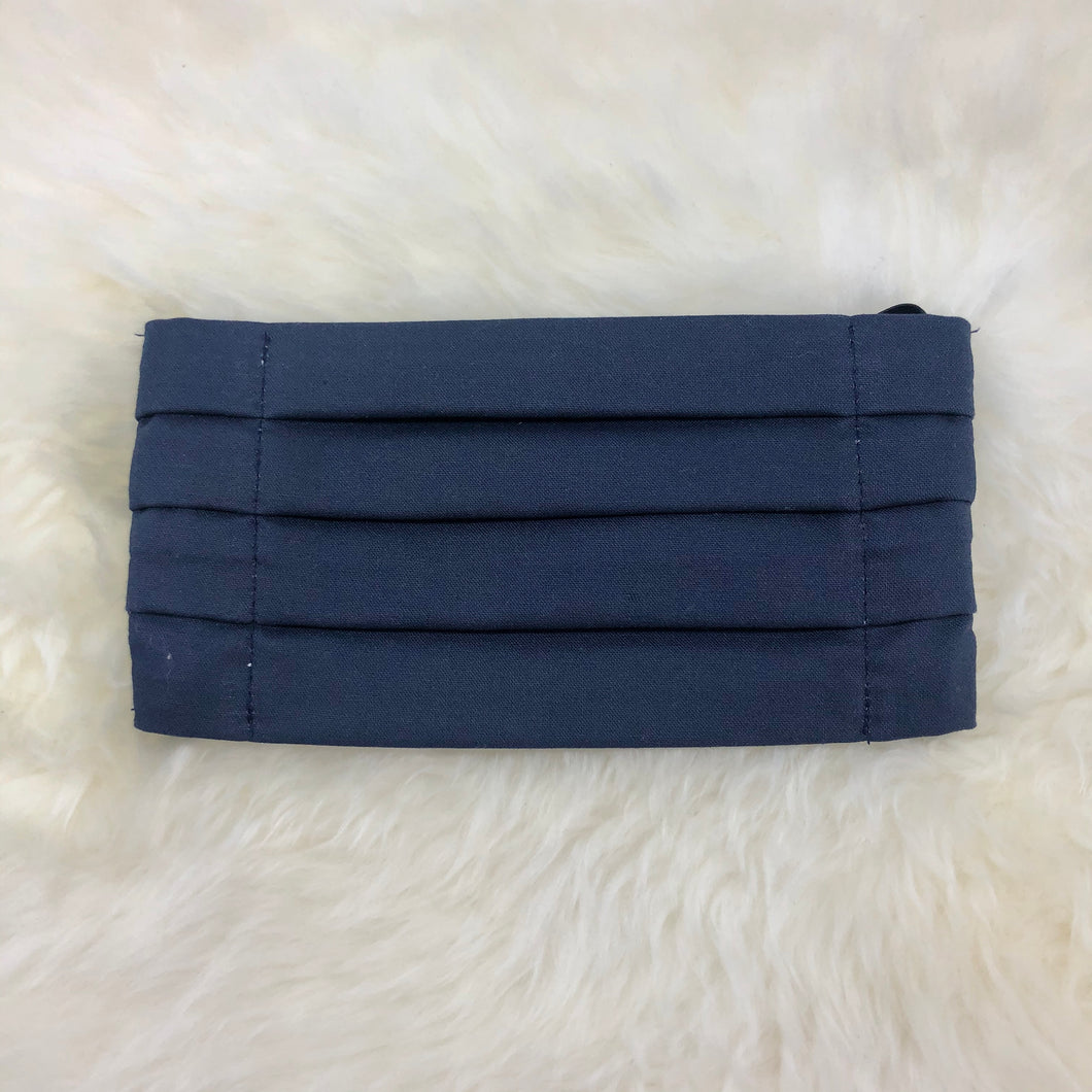 New Pleated Navy Blue