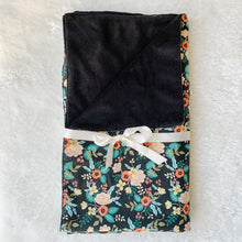 Birch Black by Rifle Paper Co. Minky Blanket