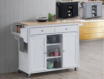 White Grady Kitchen Island