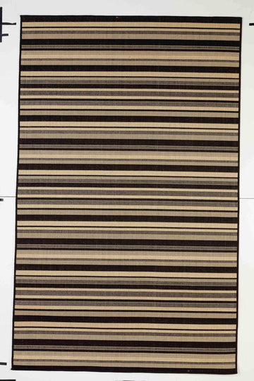 Stripes Indoor/Outdoor Rugs Flatweave Contemporary Patio, Pool, Camp and Picnic Carpets FW 575 - Context USA - Area Rug by MSRUGS