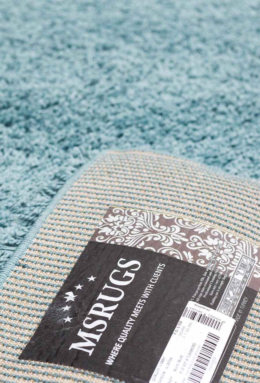 Super Shaggy Area Rug Light Blue 1810 - Context USA - Area Rug by MSRUGS