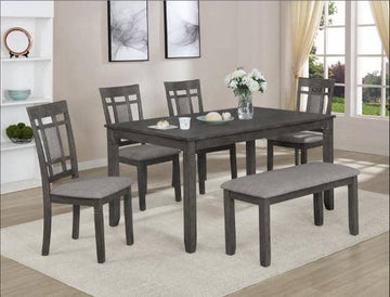 Favella Dark Grey Dining Set
