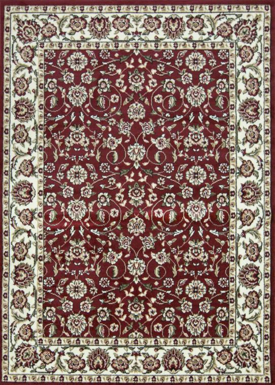 Sun Ray Outline Red Area Rug Nairobi 1162 - Context USA - Area Rug by MSRUGS