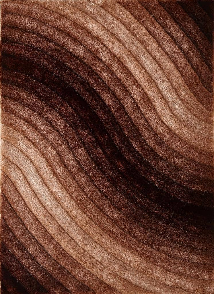 Colibri Shaggy Brown-Beige 3D 888 - Context USA - Area Rug by MSRUGS
