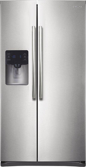 Samsung - 24.5 Cu. Ft. Side-by-Side Refrigerator with Thru-the-Door Ice and Water - Stainless steel
