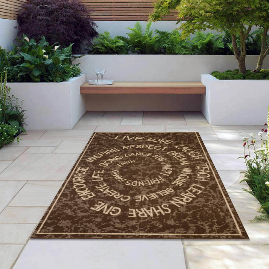 LLL Indoor/Outdoor Rugs Flatweave Contemporary Patio, Pool, Camp and Picnic Carpets FW 222 - Context USA - Area Rug by MSRUGS