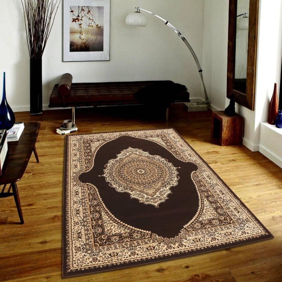 Persian Style Traditional Oriental Medallion Area Rug Empire 550 - Context USA - AREA RUG by MSRUGS