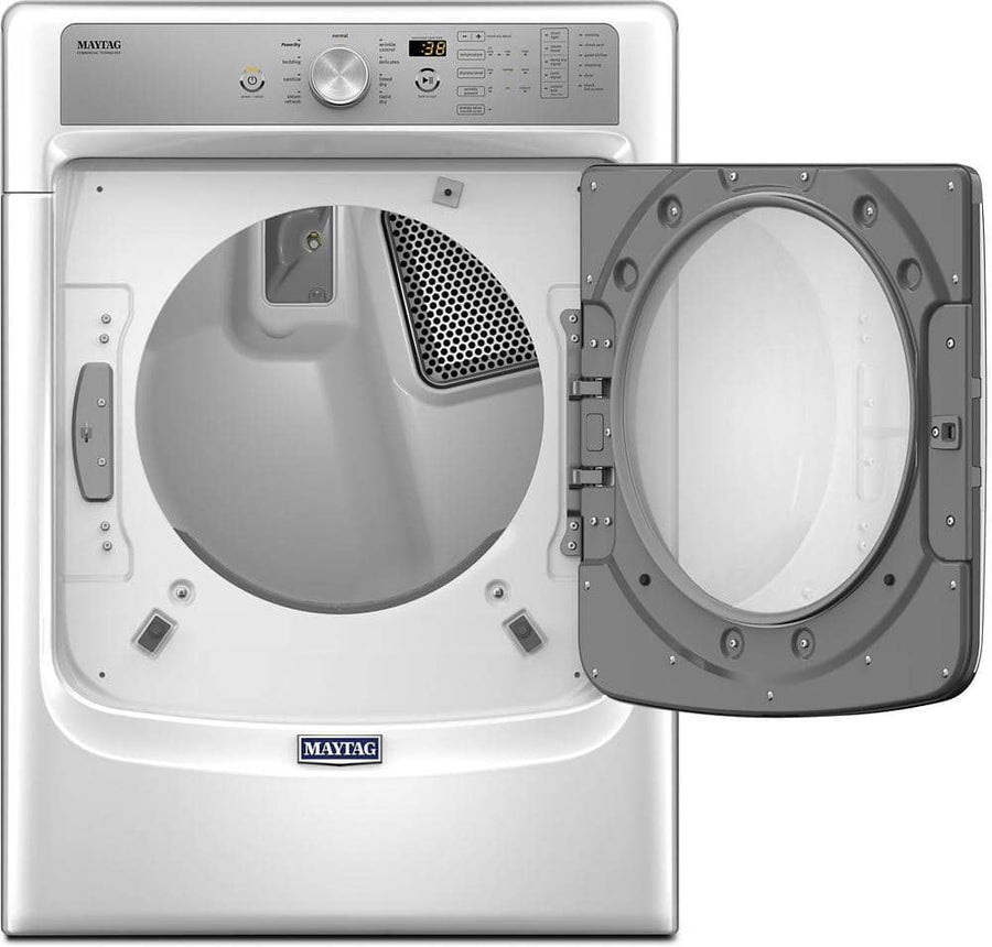 Maytag - 7.4 Cu. Ft. White 9-Cycle Gas Dryer with Steam
