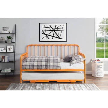 Orange Daybed with Lift-up Trundle