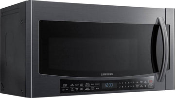 Samsung - 1.7 Cu. Ft. Over-the-Range Fingerprint Resistant Microwave-Black Stainless Steel - Fingerprint Resistant Black Stainless Steel
