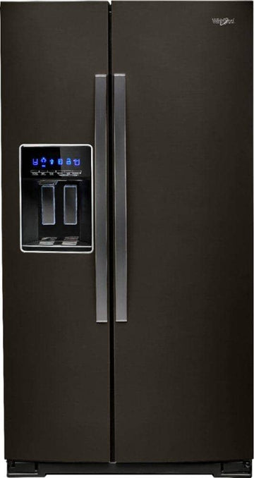 Whirlpool - 28.4 Cu. Ft. Side-by-Side Refrigerator with Water and Ice Dispenser - Black stainless steel