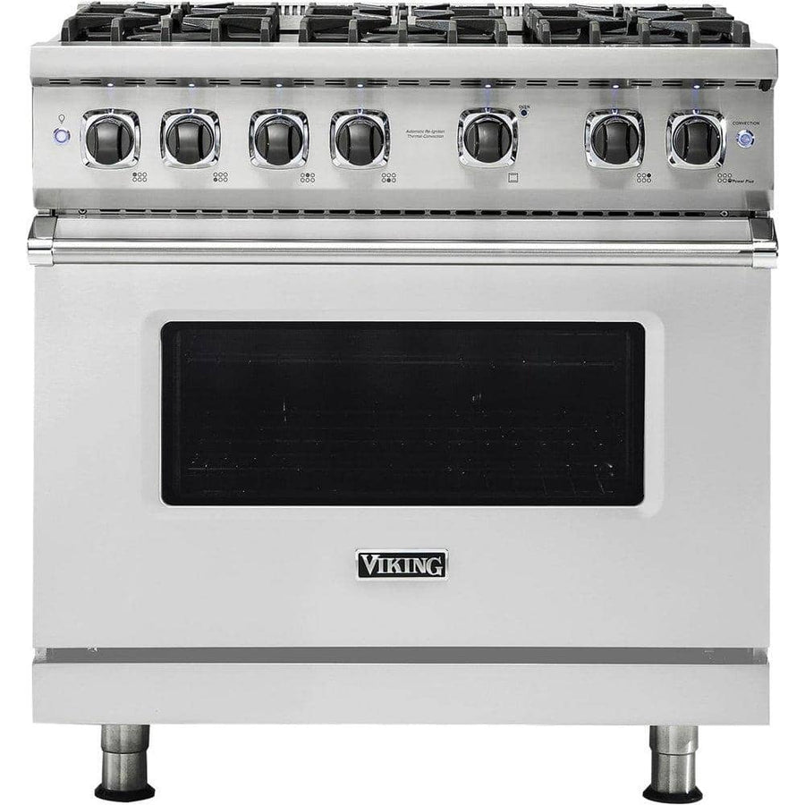 Viking - Professional 5 Series 5.1 Cu. Ft. Freestanding Gas Convection Range - Stainless steel