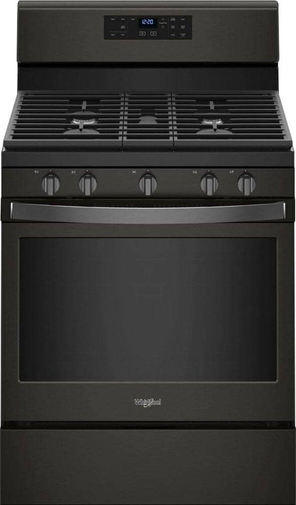 Whirlpool - 5.0 Cu. Ft. Self-Cleaning Freestanding Gas Range - Black stainless steel