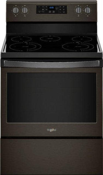 Whirlpool - 5.3 Cu. Ft. Self-Cleaning Freestanding Electric Range - Black stainless steel