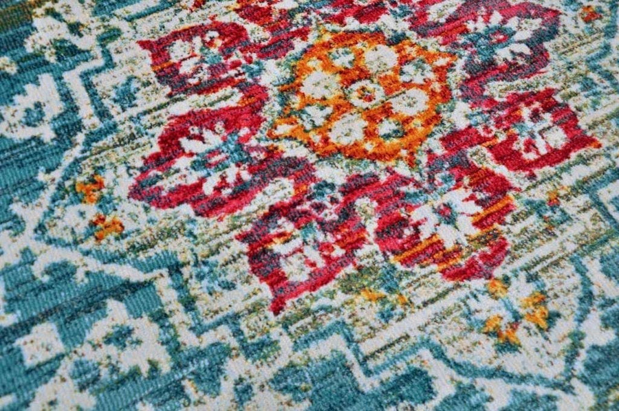 Rosette Imprint Vintage Area Rug V089A - Context USA - Area Rug by MSRUGS