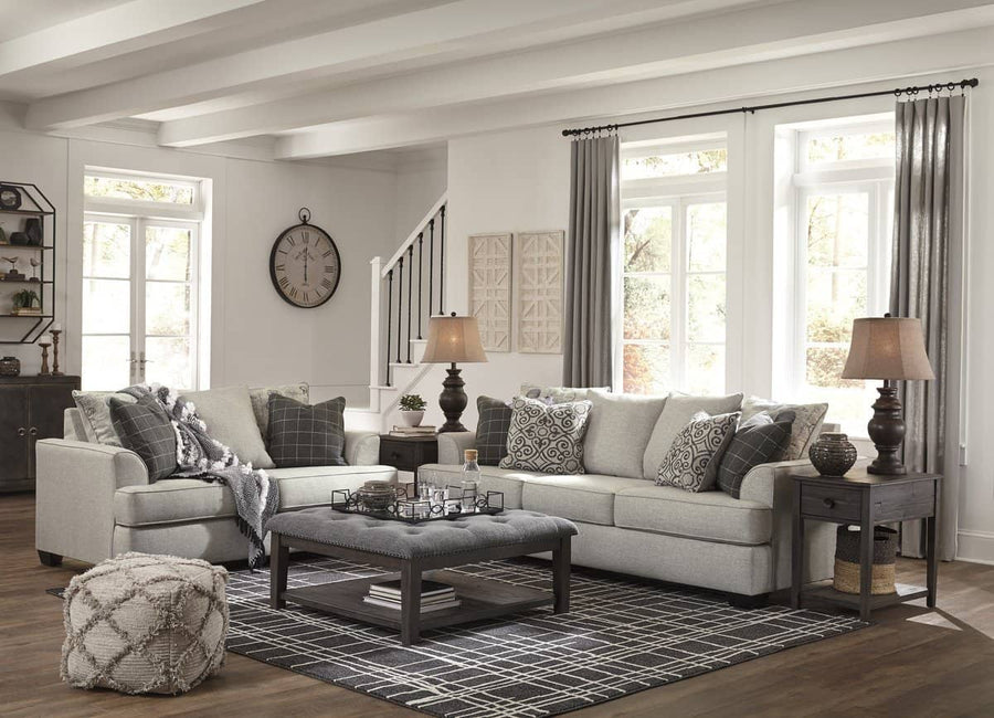 Velletri Pewter Living Room Set