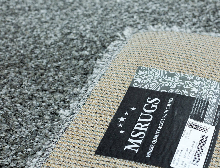 Super Shaggy Area Rug Gray 1810 - Context USA - Area Rug by MSRUGS