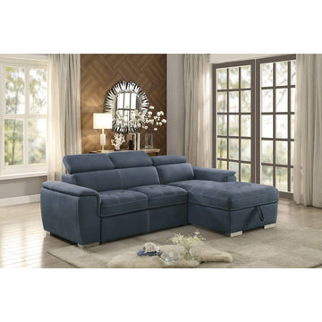 8228BU-2-Piece Sectional with Pull-out Bed and Hidden Storage