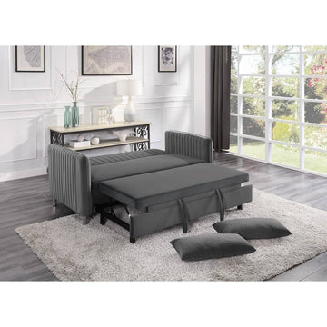 9406BRG-3CL Convertible Studio Sofa with Pull-out Bed