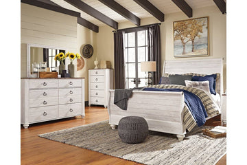 Willowton 5 Piece Queen Master Bedroom