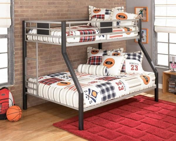 Black/Gray Twin over Full Bunk Bed