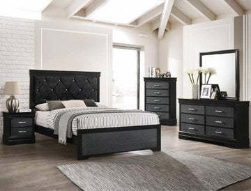 AMALIA BLACK BEDROOM SET