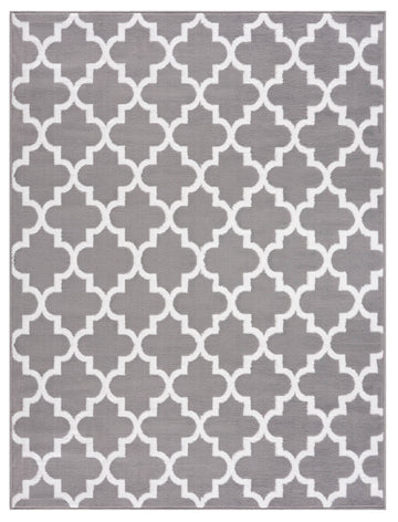 Trellis Collection Contemporary Navy Area Rug