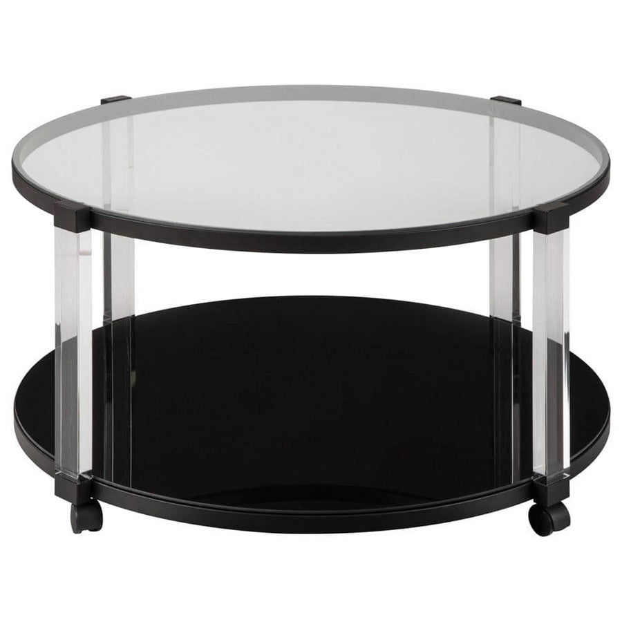 Delsiny Black Round Cocktail Table