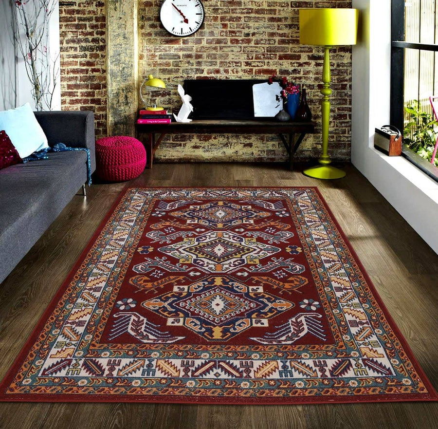 Persian Style Traditional Oriental Medallion Area Rug KLM 50 - Context USA - AREA RUG by MSRUGS