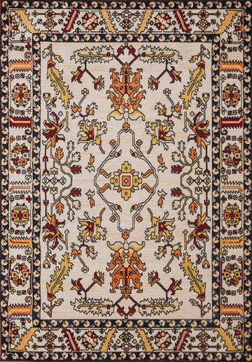 Persian Style Traditional Oriental Medallion Area Rug KLM 150 - Context USA - AREA RUG by MSRUGS