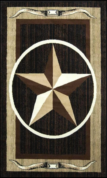 Texas Star Brown/Beige Area Rug Nairobi 1156 - Context USA - Area Rug by MSRUGS