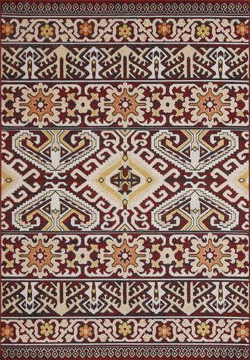 Persian Style Traditional Oriental Medallion Area Rug KLM 850 - Context USA - AREA RUG by MSRUGS